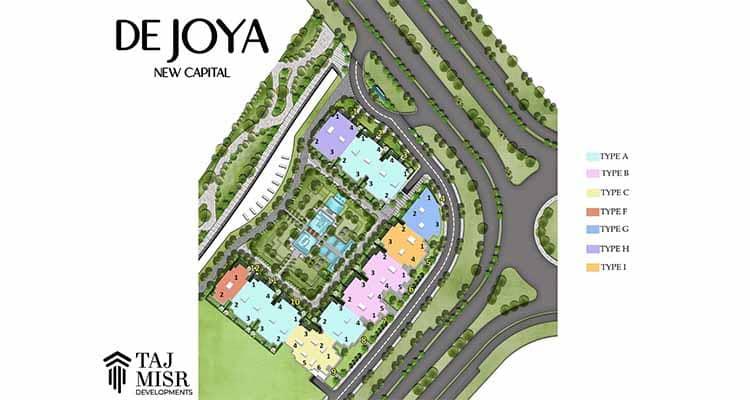 شقة 145 متر للبيع في كمبوند دي جويا العاصمة الإدارية بمقدم 7%