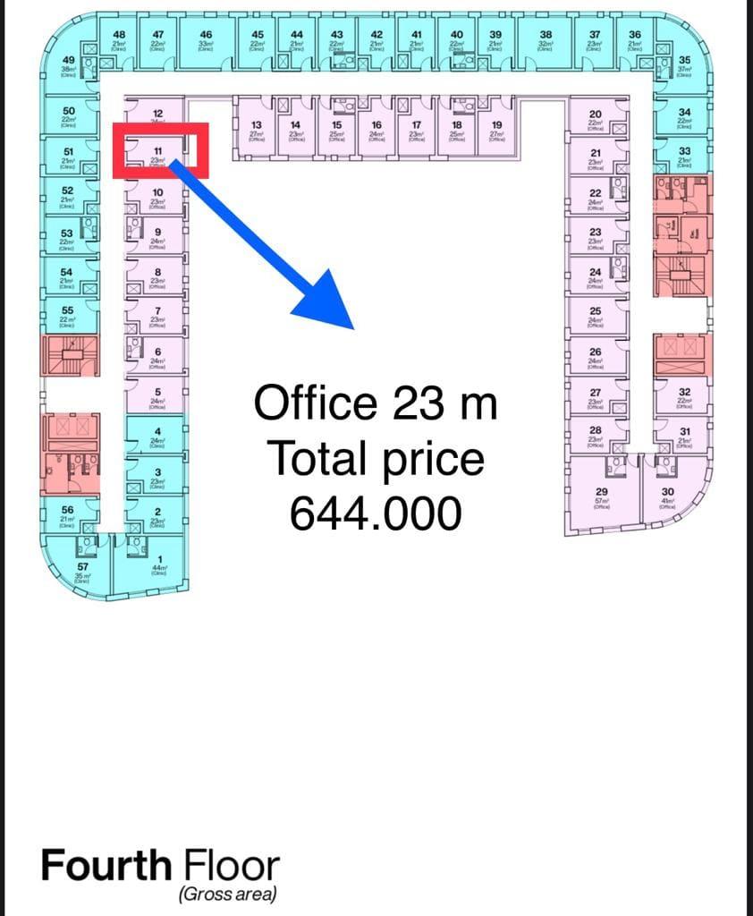 مكتب للبيع بمقدم 64 الف في العاصمة الجديدة