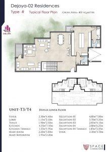 دوبلكس دور رابع وخامس 403 متر 6 غرف باول سعر متر 9000جنية في كمبوند دي جويا 1
