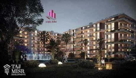 دوبلكس دور رابع وخامس 403 متر 6 غرف باول سعر متر 9000جنية في كمبوند دي جويا